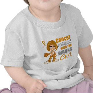 Appendix Cancer Messed With Wrong Girl Shirts