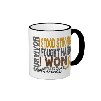 Appendix Cancer Survivor 4 Ringer Mug