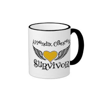 Appendix Cancer Survivor Ringer Coffee Mug