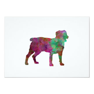 Appenzell Cattle Dog in watercolor Card