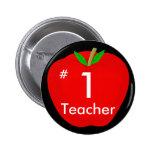 apple, #, 1, Teacher 6 Cm Round Badge