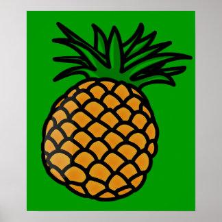apple-25251 CARTOON PINEAPPLE YUMMY DELICIOUS FRUI Print