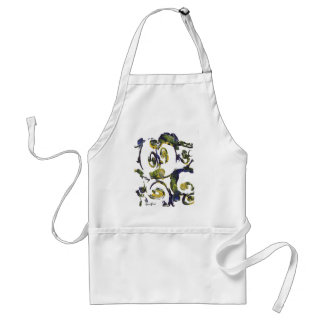 apple abstract apron