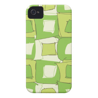 Apple Abstract Green and White Color Design iPhone 4 Case-Mate Case