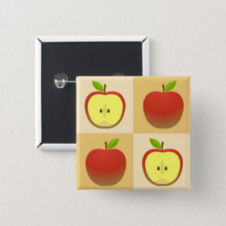 Apple and a Half 15 Cm Square Badge