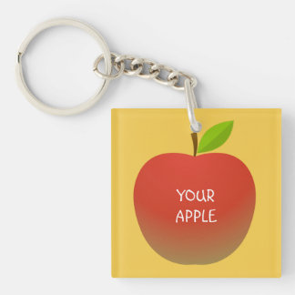 Apple and a Half(2 sides) Key Ring