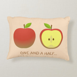 Apple and a Half pattern Decorative Cushion
