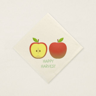 Apple and a Half pattern Disposable Napkin