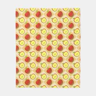 Apple and a Half pattern Fleece Blanket