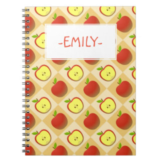Apple and a Half pattern Notebook