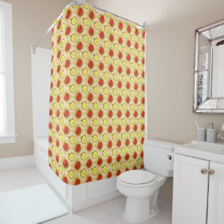 Apple and a Half pattern Shower Curtain