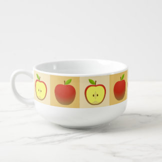 Apple and a Half pattern Soup Mug