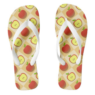 Apple and a Half pattern Thongs