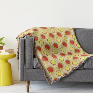 Apple and a Half pattern Thrown blanket