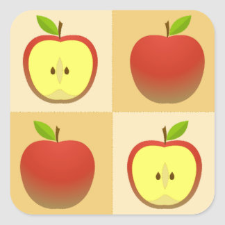 Apple and a Half Square Sticker