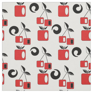 Apple and cherry . fabric