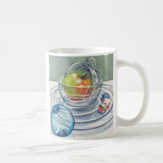 Apple and Clear Glass Mug