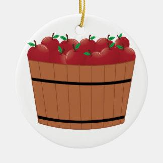 Apple Barrel Round Ceramic Decoration