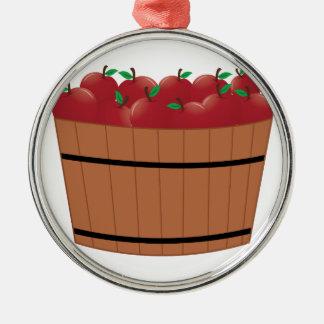 Apple Barrel Silver-Colored Round Decoration