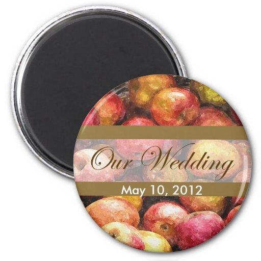 Apple Basket 1 Our Wedding Fridge Magnet