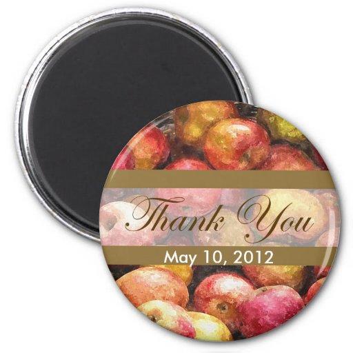 Apple Basket 1 Thank You Magnets