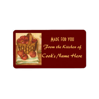 Apple Basket - From the Kitchen of - Label Address Label
