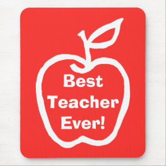Apple Best Teacher Mouse Pad