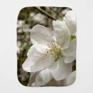 Apple Blossom Burp Cloth