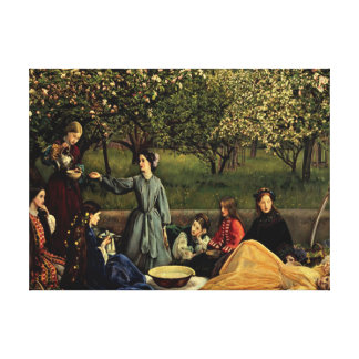 Apple blossom canvas wall hanging stretched canvas print