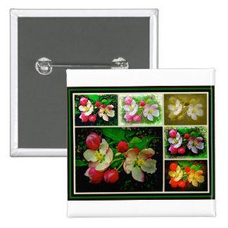 Apple Blossom Collage - Enhanced Digital Photo Pin