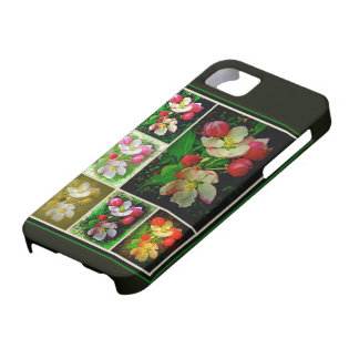 Apple Blossom Collage - Enhanced Digital Photo iPhone 5 Cover