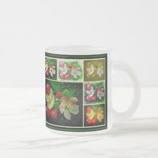 Apple Blossom Collage - Enhanced Digital Photo Frosted Glass Mug