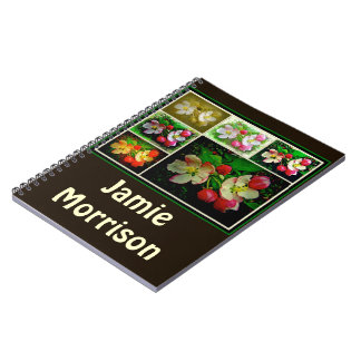 Apple Blossom Collage - Enhanced Digital Photo Notebook