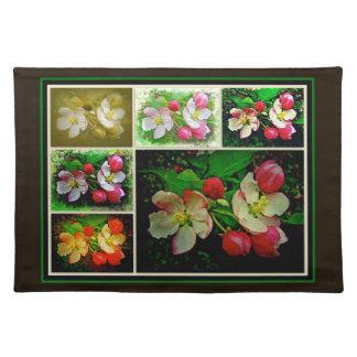 Apple Blossom Collage - Enhanced Digital Photo Place Mat