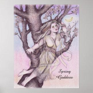 Apple Blossom Dryad Fairy Faerie Altar Art Poster