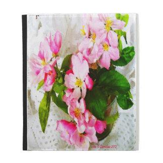 Apple Blossom Floral Design iPad Folio Case