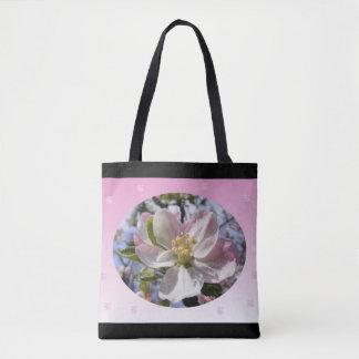 Apple Blossom Flower Tote Bag