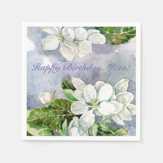 Apple blossom paper napkins