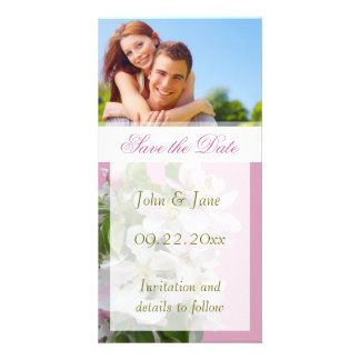 """Apple Blossom/photo  """"Save the Date"""" Photo Card"""