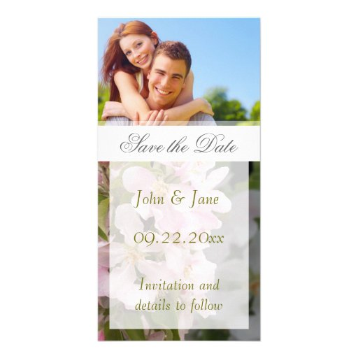 "Apple Blossom/photo  ""Save the Date"" Custom Photo Card"