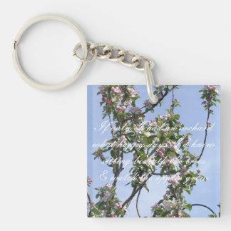 Apple blossom poem key ring