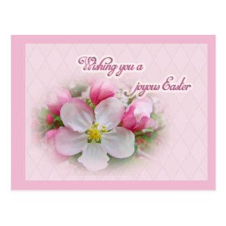 Apple Blossom Time - Joyous Easter Postcard