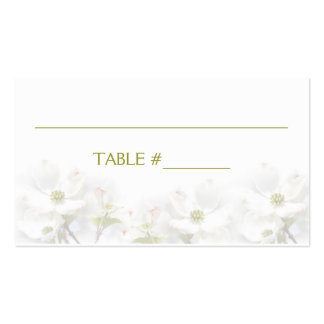 APPLE BLOSSOM WEDDING COLLECTION -NAME/PLACE CARDS PACK OF STANDARD BUSINESS CARDS