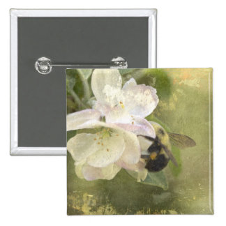 Apple Blossoms and Bumblebee Pins