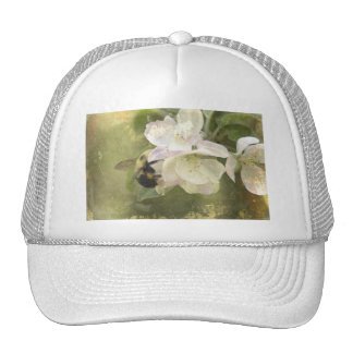 Apple Blossoms and Bumblebee Trucker Hats