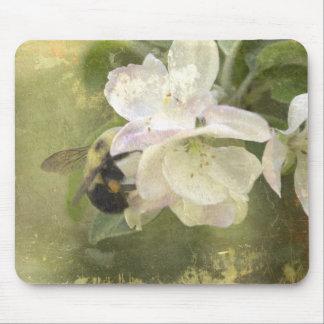 Apple Blossoms and Bumblebee Mouse Pad
