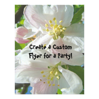Apple Blossoms Custom Flyers Parties Office Shower