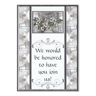 """Apple Blossoms 5"""" X 7"""" Invitation Card"""