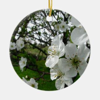 Apple Blossoms Round Ceramic Decoration