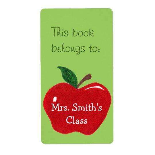 Apple Bookplate Sticker -